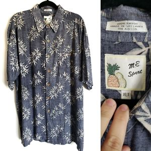 Other - Vintage Tropical Hawaiian Button Up Casual Shirt